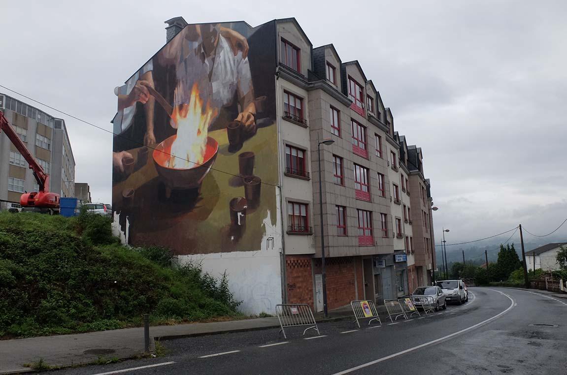 Sobre la identidad, el refugio y la convivencia, Cromático Mural Fest. Cambre, A Coruña